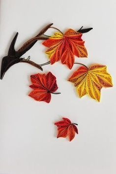 Falling into Autumn Paper Quilling Cards, Paper Quilling Tutorial, Paper Quilling Flowers, Quilled Paper Art, Quilling Art, Quilling Ideas, Quilling Patterns, Quilling Designs, Easter Bunny Colouring