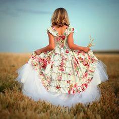 Flower Girls Dress Easter Layaway Plan A  60 by vintageprecious, $120.33