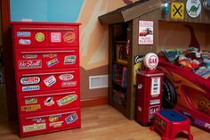 This type of boys bedroom furniture is an extremely inspiring and superb idea Boys Bedroom Furniture, Car Bedroom, Boys Bedroom Decor, Camping Bedroom, Bedroom Ideas, Disney Cars Bedroom, Disney Rooms, Lightening Mcqueen Bedroom, Transportation Room