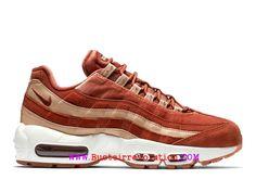 buy popular fad10 02d03 Nike Wmns Air Max 95 Essential LX Gs Chaussures Sportswear Pas Cher Pour  Femme Blanc brun