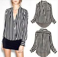 Striped Chiffon Blouse V Neck | $ 19.71 | Item is FREE Shipping Worldwide! | Damialeon | Check out our website www.damialeon.com for the latest SS17 collections at the lowest prices than the high street | FREE Shipping Worldwide for all items! | Get it here https://www.damialeon.com/new-european-style-fashion-long-sleeve-striped-bodysuit-chiffon-blouse-2016-women-office-shirts-and-tops-v-neck-clothing-blusas/ |      #damialeon #latest #trending #fashion #instadaily #dress #sunglasses #blouse…