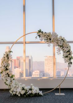 Los Angeles wedding and event florist, Flowers by Lady Buggs offers sophisticated and one-of-a-kind floral designs for a unique and discerning clientele. Wedding Arch Flowers, Wedding Ceremony Arch, Wedding Stage, Wedding Ceremony Decorations, Floral Wedding, Decor Wedding, Ceremony Backdrop, Wedding Aisles, Wedding Ceremonies