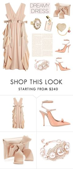 """""""So Pretty: Dreamy Dresses"""" by deepwinter ❤ liked on Polyvore featuring Fendi, RED Valentino, Louis Vuitton, Chanel, Vivienne Westwood and dreamydress"""