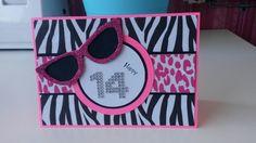 What a cool teenage card love the Wild zebra pattern