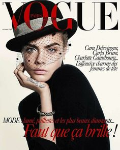 Vogue Paris enlists supermodel turned actress Cara Delevingne to star on the cover of their October 2017 edition captured by fashion photographer David Sims Édito Vogue, Vogue Fashion, Look Fashion, Fashion Models, Trendy Fashion, Street Fashion, Vogue Editorial, Editorial Fashion, Fashion Editor