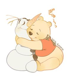 I'm obsessed with this Olaf pooh warm hugs