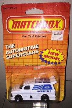 Matchbox Ford Supervan 2 Racing Van II Toy MB6 1:62 Made in Macao1985 BP #Matchbox #***#SOLD*** Check out our other great items at e_babyji :Ford