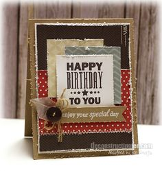 Distressed Happy Birthday To You Card...