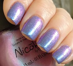 Nicole by O.P.I. Count on Me over Revlon Modern Grace