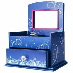 """Cinderella Jewelry Box """"A Night to Sparkle"""" by Kerson. $29.99. Approx meas: 8in L x 5 1/2in W x 5in H. No recommended for children under 8 years of age."""