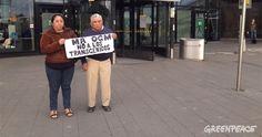 Angélica Ek y Feliciano Ucán, apicultores mayas de Hopelchén, Campeche, se encuentran en La Haya, Países Bajos, para dar su testimonio ante los jueces del Tribunal Internacional contra Monsanto, sobre las graves violaciones a los derechos humanos en sus comunidades, derivadas de los productos que di