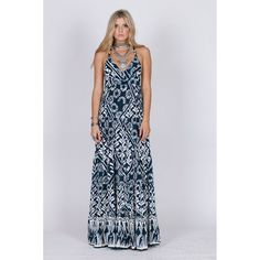 Tropic Blues Razor Back Maxi