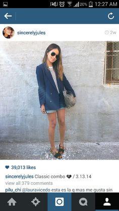 stripe blue blazer