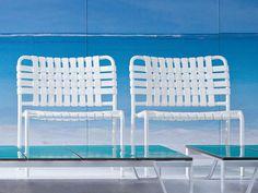 Poltroncina da giardino impilabile in alluminio e PVC INOUT 825 by Gervasoni design Paola Navone