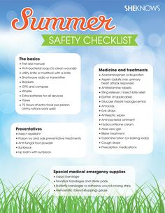 Field guide to summer safety #SummerSafety