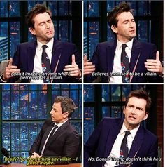 """david tennant on the show """"Late night with Seth Meyers"""" - 23th November 2015"""