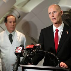 BREAKING: Florida governor Rick Scott resigns after he's caught doing science in an airport bathroom stall.