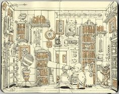 Sketchbook 25 by Mattias Adolfsson. I'm in  LOVE with his illustrations.