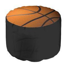 Basketball Round Pouf / ottoman