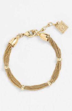 Anne Klein 'Mesh' Line Bracelet - Anne, bracelet, Klein, Line, Mesh - http://designerjewelrygalleria.com/anne-klein-jewelry/anne-klein-mesh-line-bracelet/