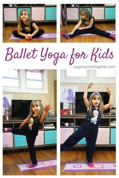 Help kids focus and learn how to control their movements with these simple Ballet Yoga for Kids movements. Yoga is a great way to start the day with kids and there are lots of easy ways to modify yoga to fit your child's abilities as they learn.