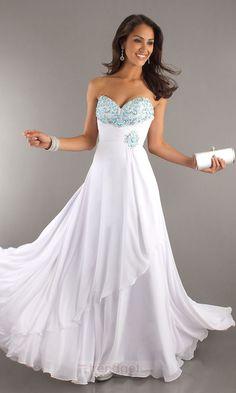 White JROTC Ball Dresses