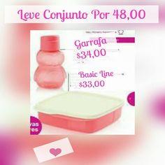 Conjunto Eco Kids Garrafa Pinguim 350ml e Basic Line com divisoria 550ml Guava