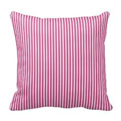 Pink Flambe Striped Decorative Pillows