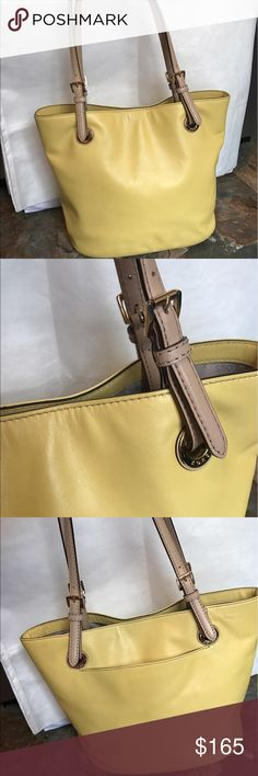 Pastel Yellow bucket style MK In Amazing shape virtually no wear Michael Kors Bags