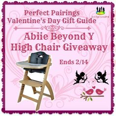 One lucky reader will get a Abiie Beyond Y High Chair valued at $189.00. Comes in a natural wood or mahogany wood. Abiie Beyond Y High Chair is a creative solution to enhance the space in your home and beautifully displays how much room a well-designed piece of furniture can revamp a living area. Innovative and versatile, the Abiie High Chair is an excellently crafted, all-in-one high chair that can transform into an adult size seat in