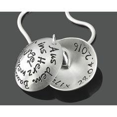 Medaillon Kette mit Gravur, ein besonderes Geschenk zur Geburt.Eine schöne 925…