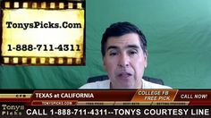 Texas Longhorns vs. California Golden Bears Pick Prediction College Foot...