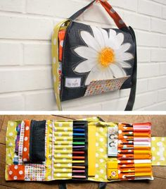 "Tutorial for an ""art suitcase"" -- more of a messenger bag, I think"