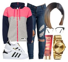 """""""Untitled #461"""" by foreverkaylah ❤ liked on Polyvore featuring GlassesUSA, Victoria's Secret, StellaSport, adidas and Nixon"""