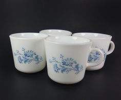 Corning Colonial Mist Coffee Cups Mugs 6 Ounces by RedThreadRetro