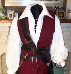 Pirate mens Renaissance Buccaneer Mate custom Costume. $225.00, via Etsy.