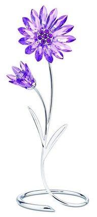 swarovski flower figurines | Swarovski Drina, Violet Flower Figurine