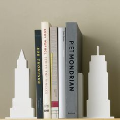 Skyscraper bookends (set of 2) $40,  Design Ideas