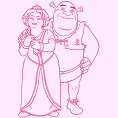 shrek and fiona wall art is the perfect way to brighten up your little girls