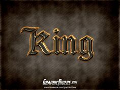 GraphicRiders   Fantasy Game Style – King (free photoshop layer style, text effect, free psd file) #graphicriders