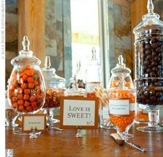Candy bar for a fall wedding