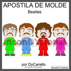 Beatles Band, The Beatles, Felt Ornaments, Ronald Mcdonald, Family Guy, Handmade Items, Sewing, Fictional Characters, 2d