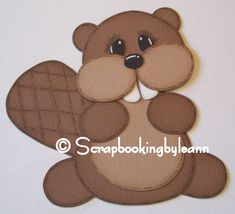 beaver scrapbook paper piecing by scrapbookingbyleann, via Flickr