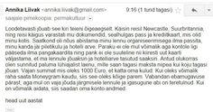 ★ Soulful White ★ Eesti keel meid enam ei kaitse. Viimastel nädalatel on tulnud paljude Eesti inimeste postkastidesse e-kirjad, milles reisil viibiv sõber, sugulane või lihtsalt tuttav kurdab soravas eesti keels, et tema pass ja krediitkaart on varastatud ning palub saata raha lennupiletite ja hotelli eest tasumiseks. https://www.facebook.com/malle.taar/posts/10203698366599837