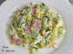 Ensalada hawaiana de pollo con mayonesa - Easy chicken salad with mayonnaise
