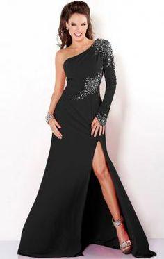 Classy Long Black Tailor Made Evening Prom Dress (LFNBC0013) in http://www.marieprom.co.uk/black-prom-dresses