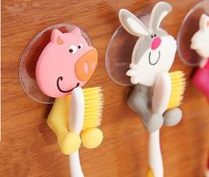 Cute Cartoon sucker toothbrush holder  Suction Hooks 5 Position Tooth Brush Holder Bathroom Sets-in Bathroom Sets from Home & Garden on Aliexpress.com | Alibaba Group