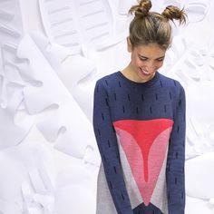 vestido Carita colección Bichos fw16 Lana, Jumper, T Shirts For Women, Instagram Posts, Style, Fashion, Dress, Jackets, Shirts