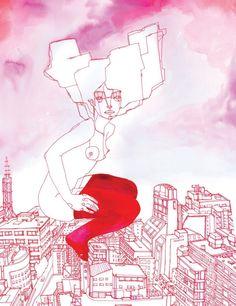 Illustration, RED, Ilustración, Ainhoa Azumendi
