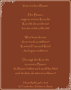 Bildgedicht Vom reichen Bauer - Gedicht von Horst Bulla, dt. Freidenker, Dichter & Autor - Gedichte - Zitate - Quotes - deutsch